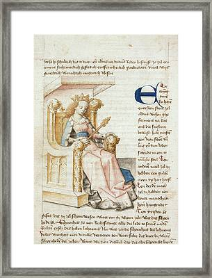 An Enthroned Queen Framed Print by British Library