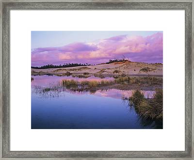 An Ephemeral Pool Reflects The Morning Framed Print by Robert L. Potts
