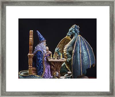 An Epic Chess Match Framed Print