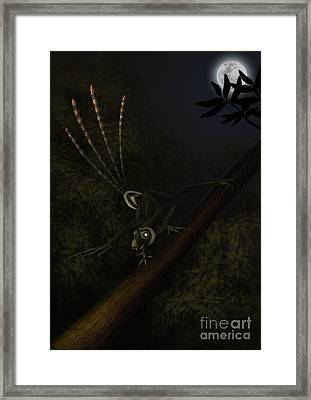 An Epidexipteryx Reacts Aggressively Framed Print