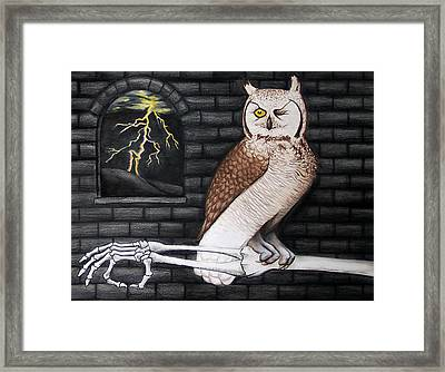 An Esoteric Evening With Swine Framed Print by Donovan Hubbard