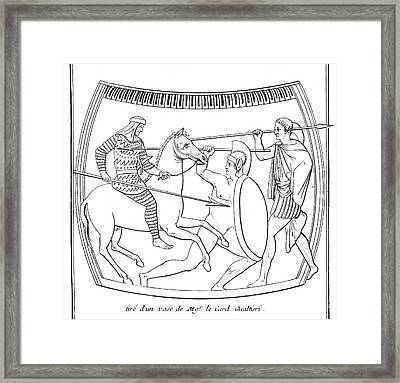 An Etruscan Cavalryman  Armed Framed Print by Mary Evans Picture Library
