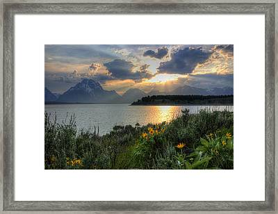 An Evening At Jackson Lake Framed Print
