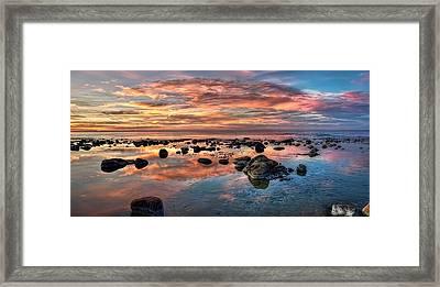 An Evening At The Beach Framed Print