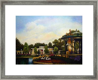 An Evening At The Muny Framed Print by Michael Frank