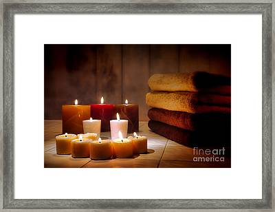 An Evening At The Spa Framed Print