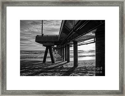 An Evening At Venice Beach Pier Framed Print