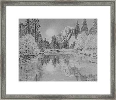 An Evening At Yosemite Framed Print by Laurence Wright