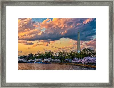 An Evening In Dc Framed Print