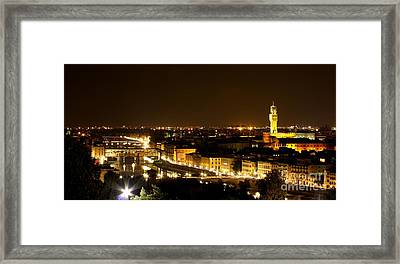 An Evening In Florence  Framed Print by Sergio B