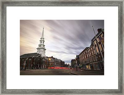 An Evening In Market Square Framed Print