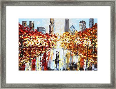 An Evening In The City Framed Print by Christine Krainock