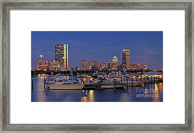 An Evening On The Charles Framed Print