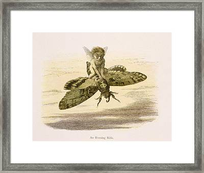 An Evening Ride, Illustration From In Framed Print by Richard Doyle