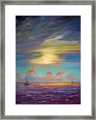 An Evening Sail Framed Print