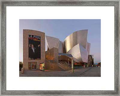 Framed Print featuring the photograph An Evening With Gustavo - Walt Disney Concert Hall Architecture Los Angeles by Ram Vasudev