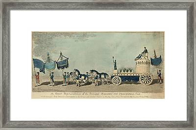 An Exact Representation Of The Principal Banners Framed Print by Litz Collection