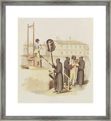 An Execution In Rome For Murder, 1820 Framed Print by Richard Bridgens