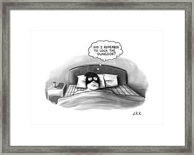 An Executioner In Bed Thinks Did I Remember Framed Print by Jason Adam Katzenstein
