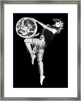 An Exotic Russian Dancer Framed Print by Underwood Archives