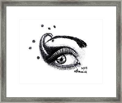 An Eye For Art Framed Print by Kayleigh Semeniuk