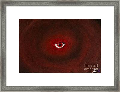 An Eye Is Upon You Framed Print
