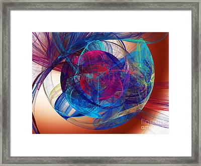 An Eye To The Soul Framed Print by Andee Design