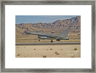 An F-16a Fighting Falcon Of The Royal Framed Print