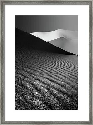 An Ice Hill In Desert ! Framed Print