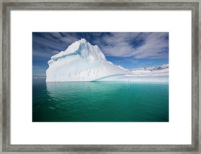 An Iceberg In The Gerlache Strait Framed Print