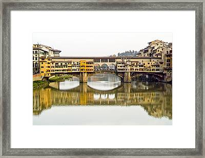 An Icon Of Florence -ponte Veccio Framed Print