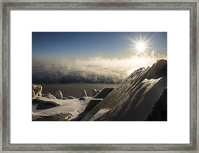 An Icy Scene In The Morning Sun Framed Print by Sven Brogren