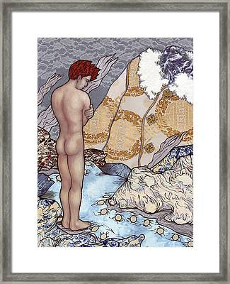 An Icy Wind Framed Print