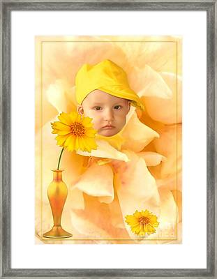 An Image Of A Photograph Of Your Child. - 09 Framed Print