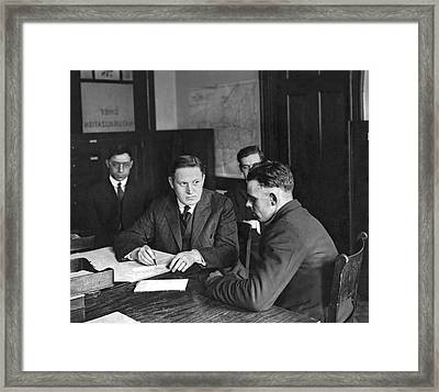 An Immigrant  Being Examined Framed Print