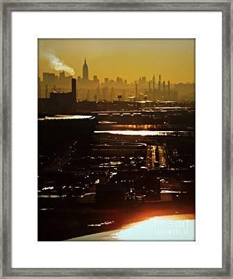 An Imposing Skyline Framed Print by James Aiken