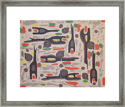 An Impression Of Nature Framed Print by Olivia  M Dickerson