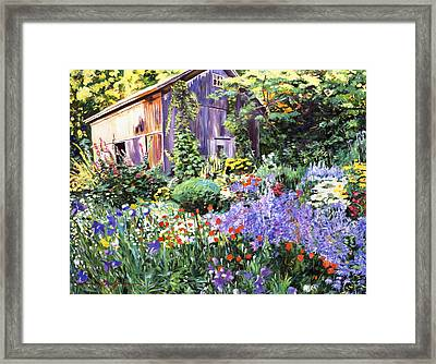 An Impressionist Garden Framed Print by David Lloyd Glover