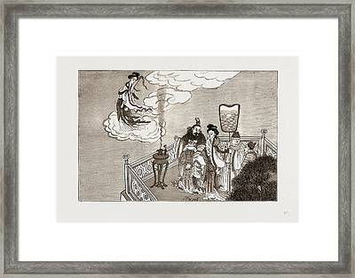 An Incident In Chinese Mythology The Emperor Miao Chwang Framed Print by Litz Collection