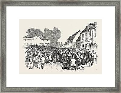 An Incident In Mill Street, Chesefield, Winchester Framed Print