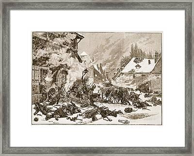An Incident In The Battle Framed Print by Alphonse Marie de Neuville