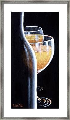 Framed Print featuring the painting An Indecent Proposal by Sandi Whetzel