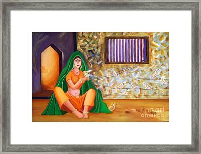 An Indian Village Woman Framed Print by Divya Kakkar