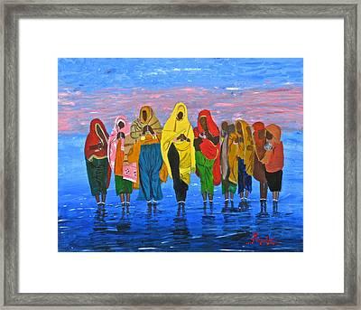An Indian Water Prayer Ritual Framed Print
