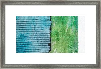 An Indirect Reflection Framed Print