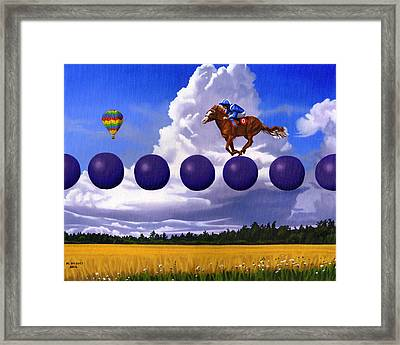 An Insignificent Race Framed Print by Michael Bridges
