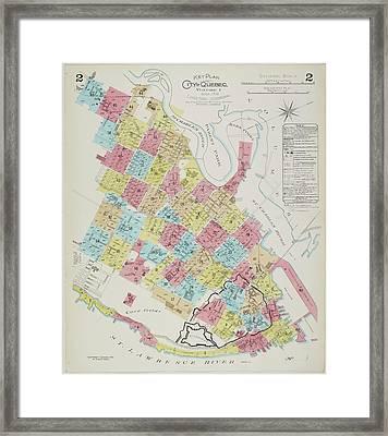 An Insurance Plan Of Quebec Framed Print