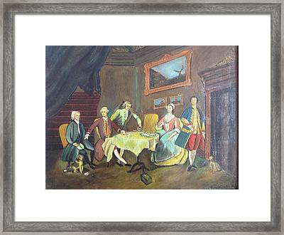 Framed Print featuring the painting An Interior Setting by Egidio Graziani