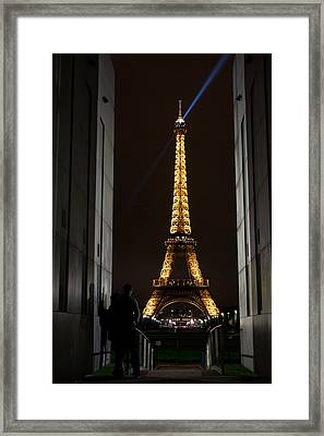 An Intimate Moment With Eiffel Framed Print by John Daly