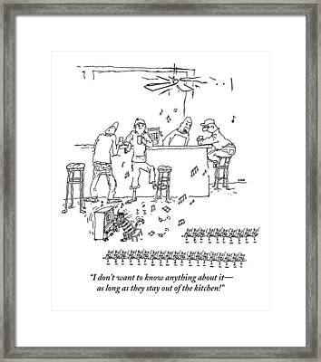 An Invasion Of Dancing Mice And A Cat Pianist Framed Print